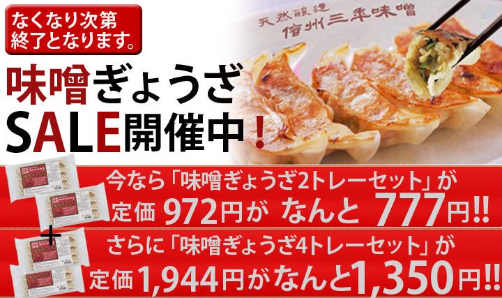 石井味噌の味噌餃子セール!なくなり次第終了