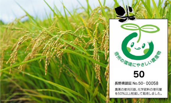 浜さんの作るお米は、減農薬栽培米
