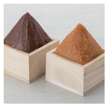 三年味噌と米こうじ味噌