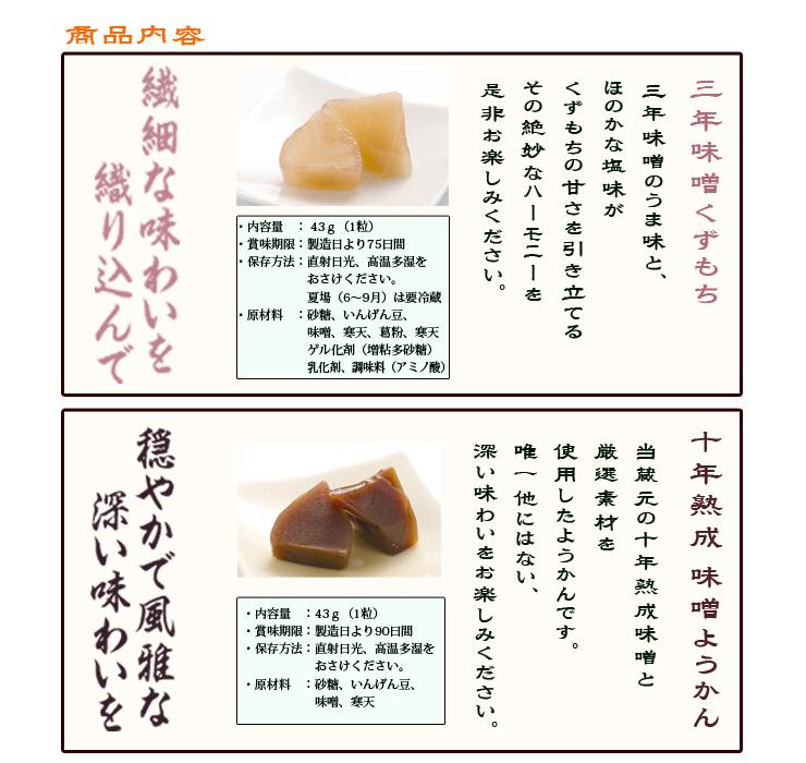 石井味噌の選べるスイーツギフト